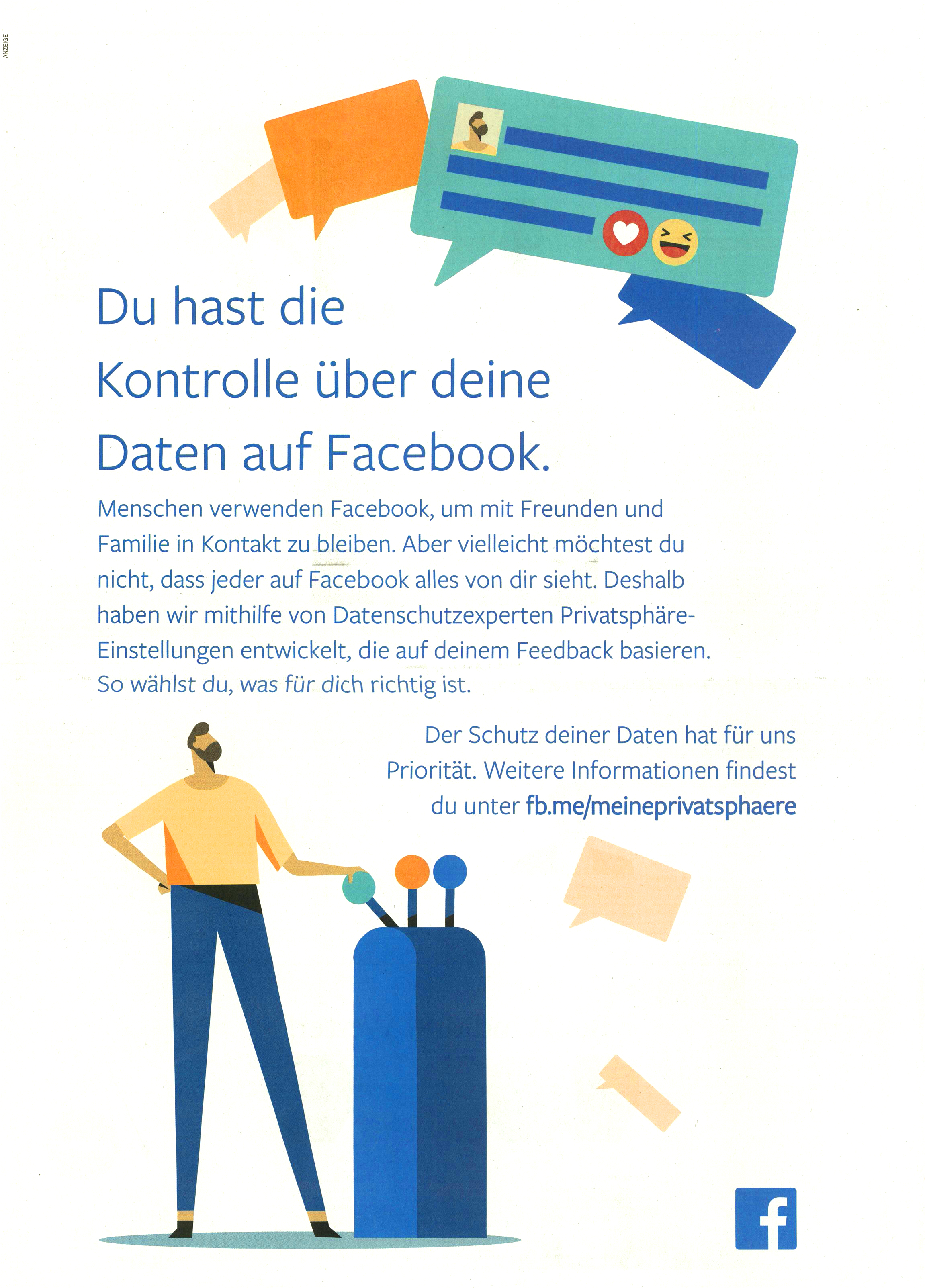 Facebook - Du hast die Kontrolle über deine Daten
