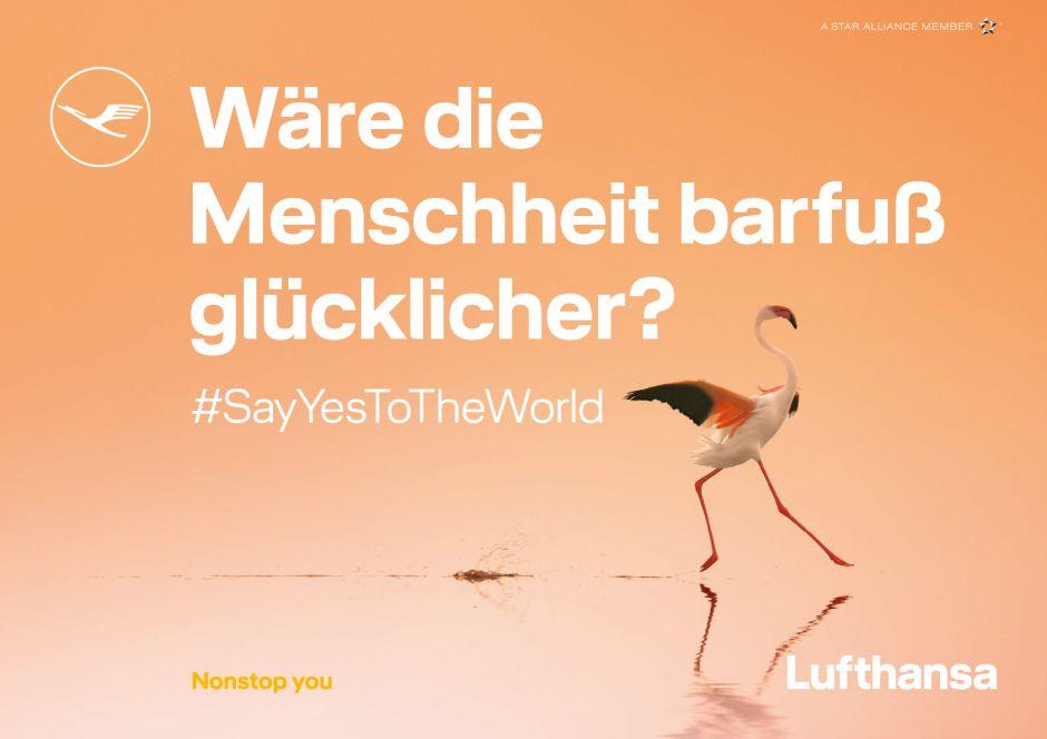 Lufthansa - Wäre die Menschheit barfuß glücklicher