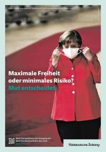 2020_09-08 Süddt. Ztg. Corona Merkel Maske-